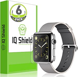 IQ Shield Screen Protector Compatible with Apple Watch 42mm (Series 1, Series 2)(6-Pack)(Updated Version)(Full Coverage) LiquidSkin Anti-Bubble Clear Film