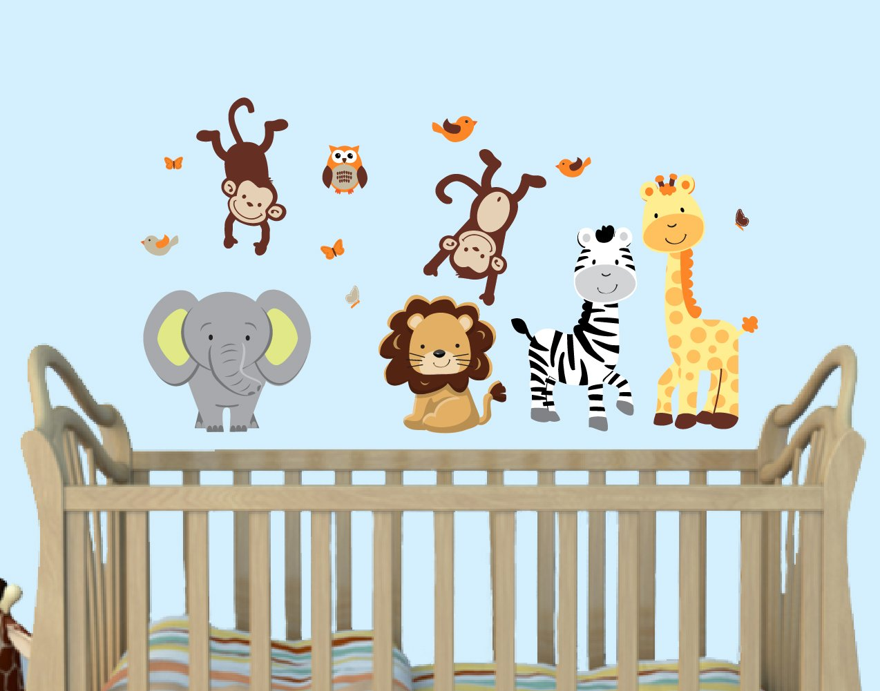 Mini Pride Expedition Animal Wall Decals by Nursery Decals and More