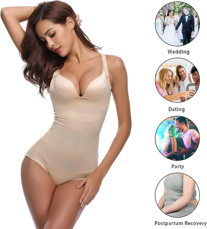 Aibrou Faja Reductora Mujer Abdomen Body Reductor Bodies Moldeadores para Mujer,c/ómodo y Ligero Cors/é Faja para presumir de Buena Figura sin Costuras
