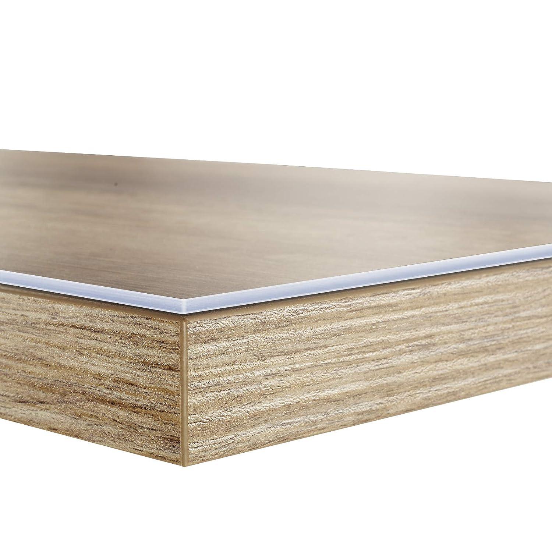 Tischfolie in vielen Größen   Tischdecke transparent und abwaschbar   schützt Ihren Tisch vor Schmutz und Kratzern   Schutzfolie Tischschoner 100x300 cm