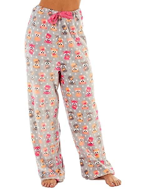 Pantalones de pijama para mujer, de polar Rojo Fox S