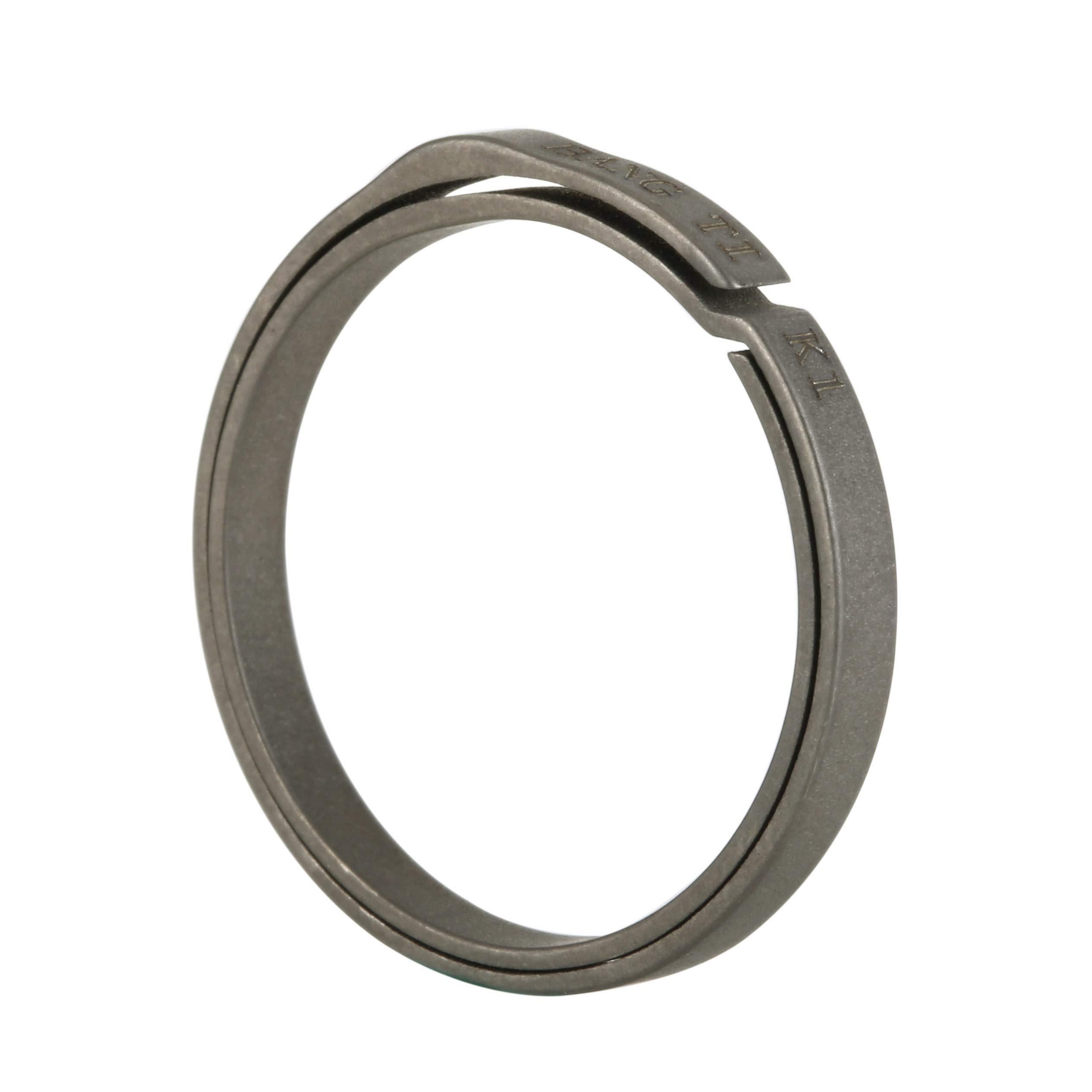 BANG TI Titanium Nail-Saving Flexible Small Keyring (K1, 26mm/1.02'', 5-pack) by BANG TI