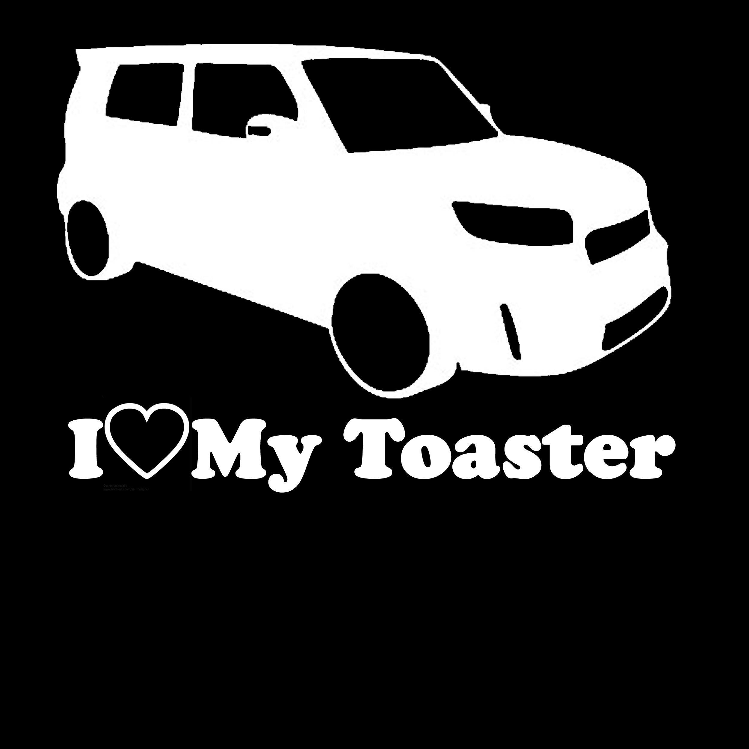 Lifestyle Graphix I Love My Toaster Scion XB Lowered Custom Window Decal