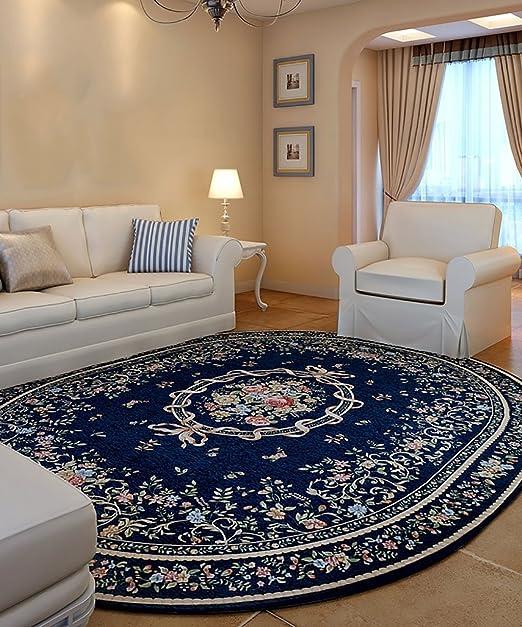 Dyl Área Alfombras Salón Dormitorio Alfombra Fibra de algodón Oval ...