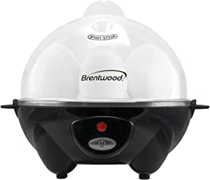 Brentwood TS-1045BK Appliances Electric Egg Cooker with Auto Shutoff (Black), One Size