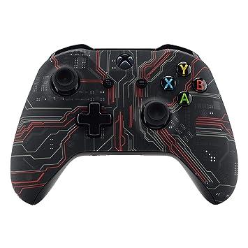 eXtremeRate Carcasa para Xbox One, Funda Delantera Carcasa Frontal, Kit de reemplazo de la Placa Frontal para Mando de Xbox One X Xbox One S-Modelo ...