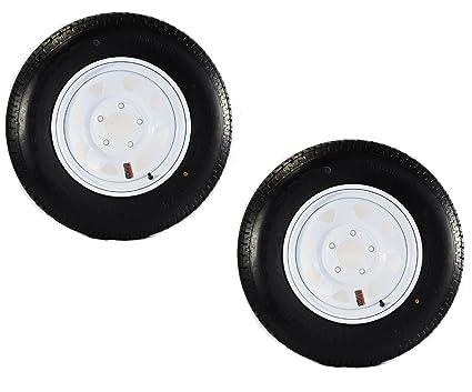 Amazon Com Ecustomrim Two Trailer Tires On Rims St185 80d13 5l 13