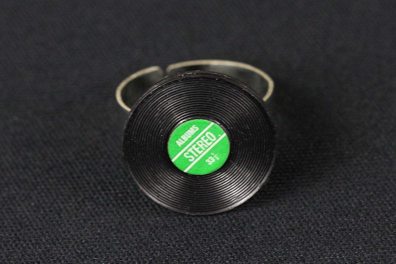 Schallplattenring Ring Schallplatte Miniblings Vinyl DJ Musik Musiker LP grün