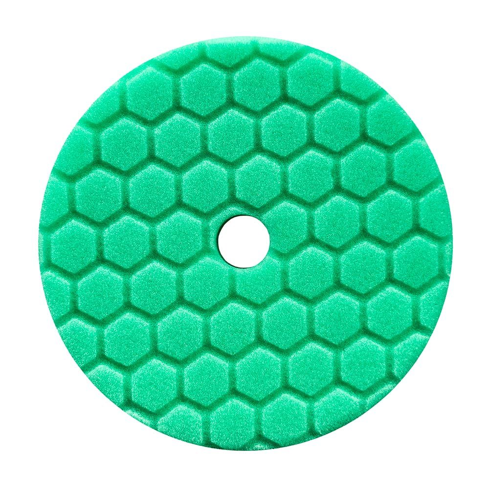 Chemical Guys Hex Logic Quantum 140mm 5.5' Green Heavy Polishing Pad ~ Polish BUFX113HEX5