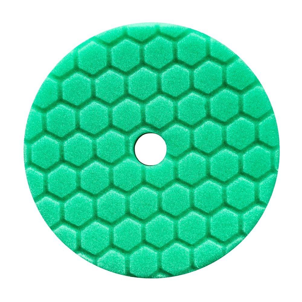 Chemical Guys BUFX113HEX6 Hex-Logic Quantum Medium-Heavy Cutting Pad (Green, 6.5 Inch) by Chemical Guys