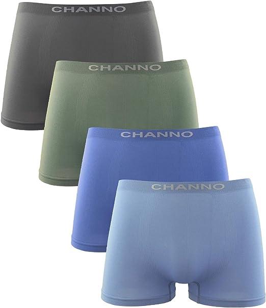 Channo Calzoncillos Boxer Niño Sin Costuras Infantil Licra Liso Elástico Microfibra. Pack de 4: Amazon.es: Ropa y accesorios
