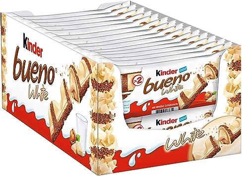 Niños Bueno White Twin Chocolate Bar – 30 Pack: Amazon.es ...