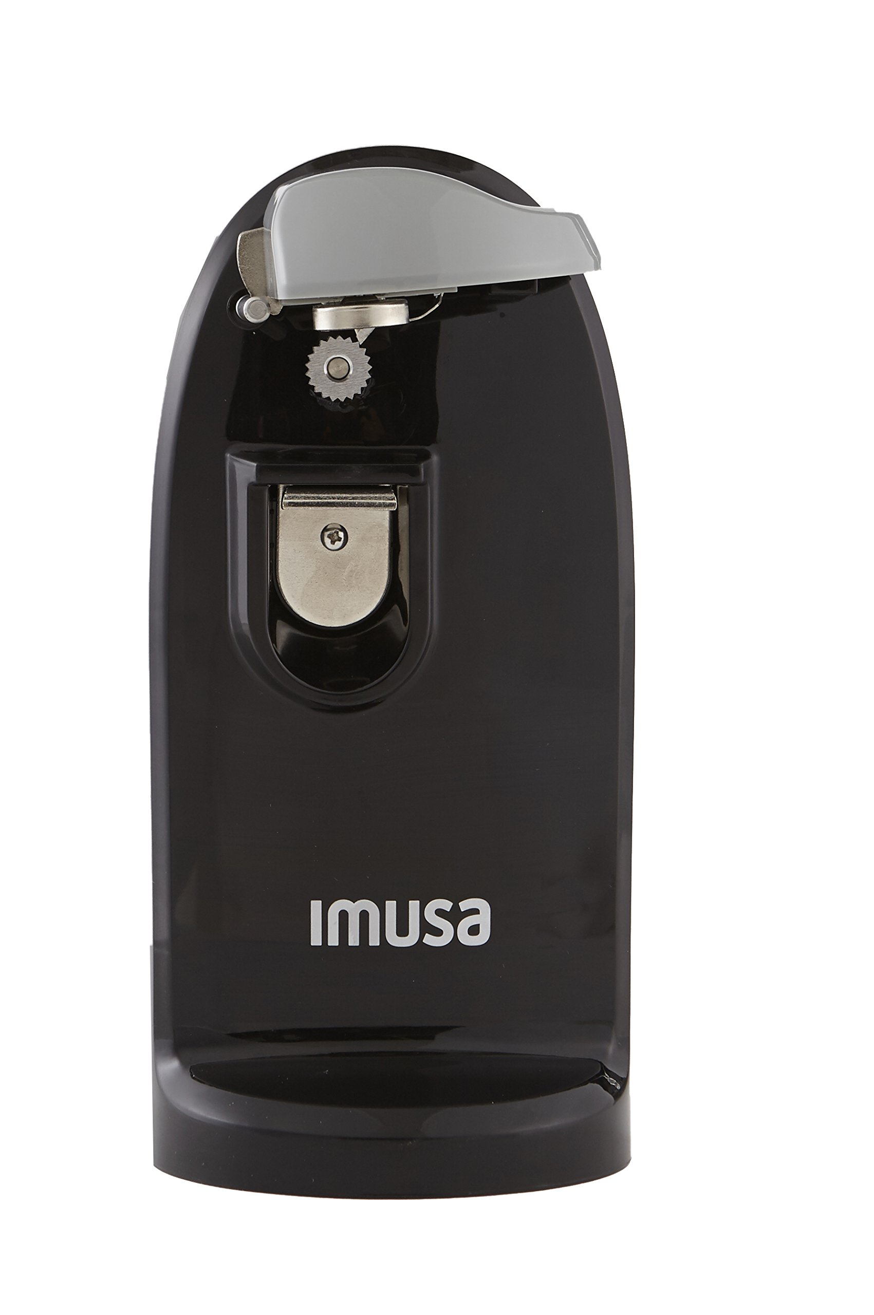 IMUSA USA GAU-80322B Electric Can Opener with Bottle Opener and Knife Sharpener, Black