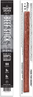 product image for Original Beef Sticks by Country Archer, 100% Grass-Fed, Certified Keto, Paleo, Gluten Free, 8 Count