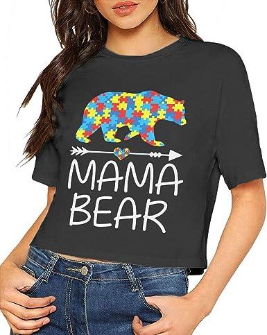 Short Sleeve Shirts Autism Awareness Mama Bear Tee Shirt