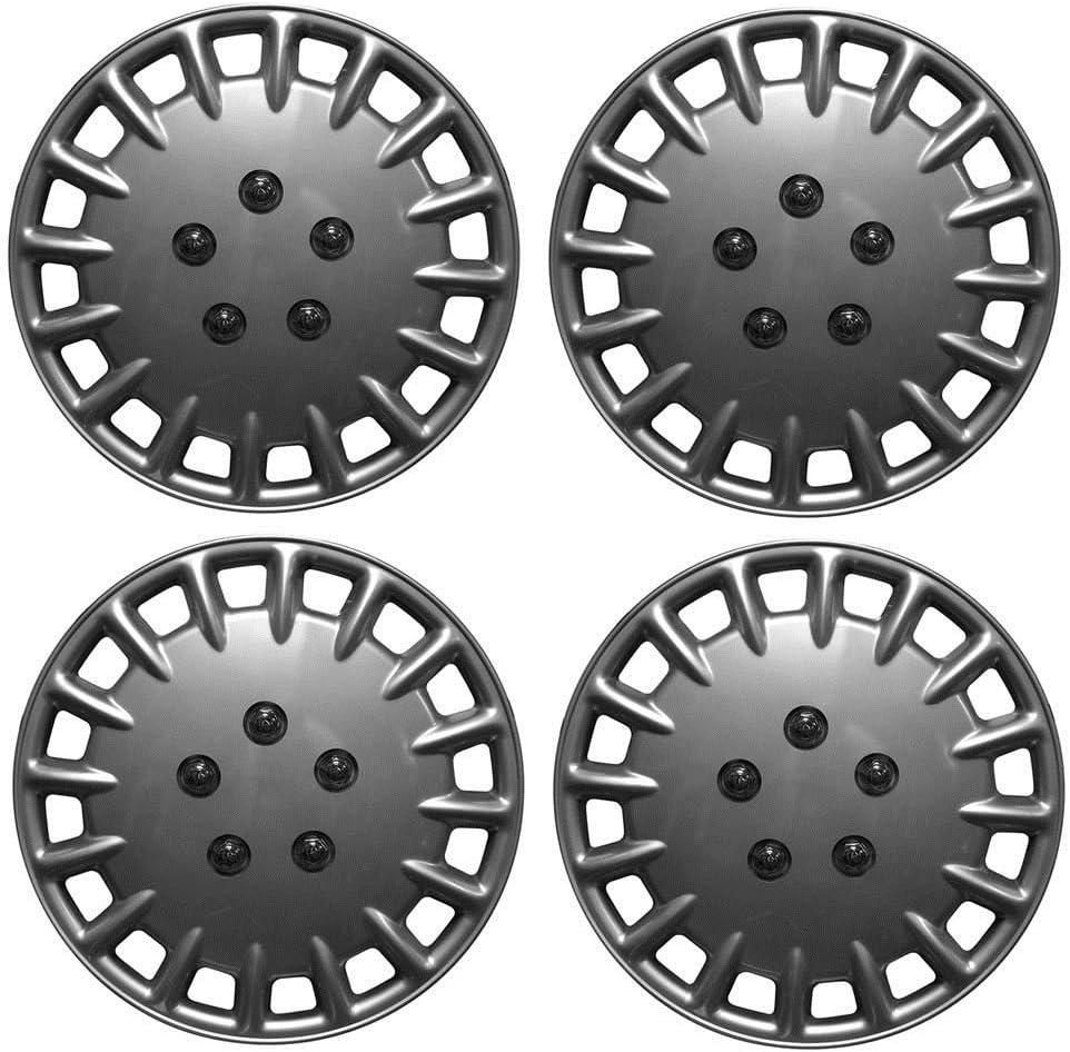 Wing Mirrors World VAUXHALL VECTRA ESTATE 16 Tornado Car Wheel Trims Hub Cap Plastic Covers Silver
