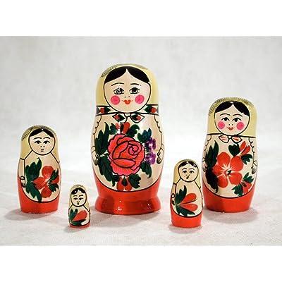 """Semenov Russian Nesting Doll 5pc./4"""": Toys & Games"""