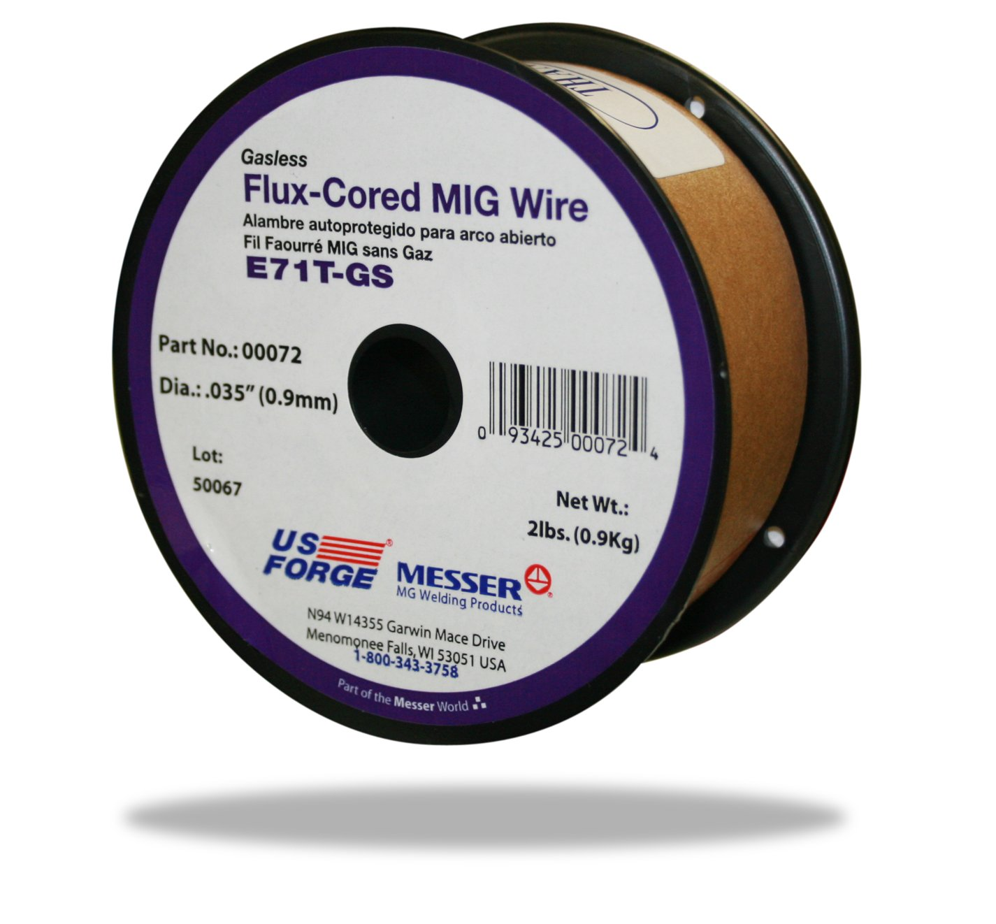 US Forge Welding Flux-Cored MIG Wire .035 2-Pound Spool #00072 ...