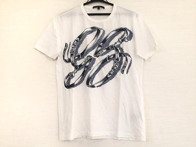 a0ab937b35f9 Amazon   (グッチ) GUCCI Tシャツ 半袖Tシャツ メンズ 白×ネイビー ...