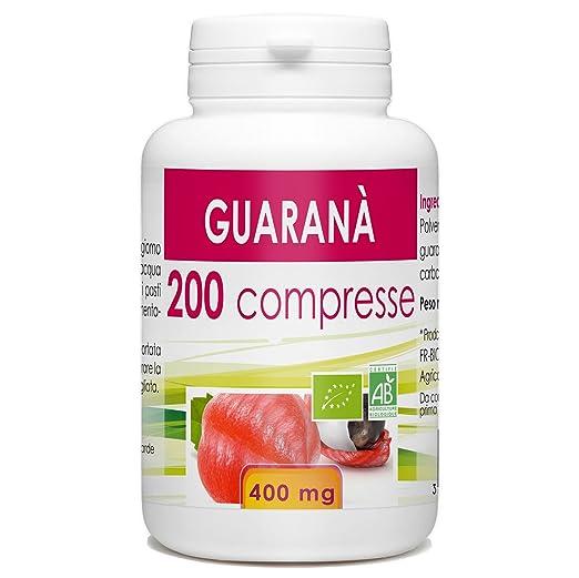 10 opinioni per Guarana Organic- Box di 200 compresse da