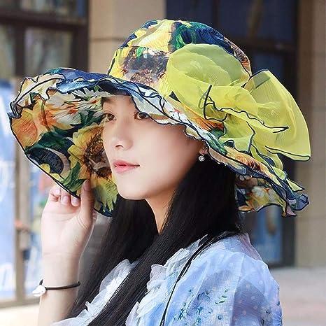 Eeayyygch Sombrero de Mujer Ms Cap Verano Sombrero de Sol Protector Solar  al Aire Libre Sombrero 91454309eec
