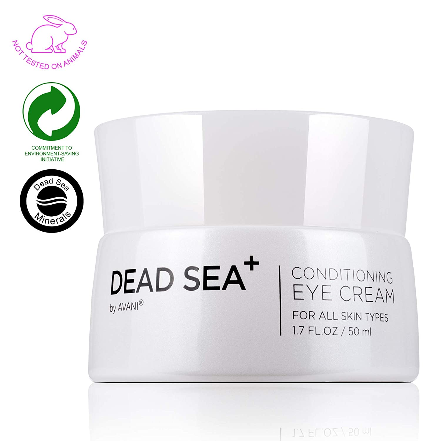 Dead Sea+ by AVANI Conditioning Eye Cream | Targets Typical Signs Of Aging, Improves Skin Elasticity, Reduces Fine Lines And Wrinkles | Dead Sea Minerals, Collagen, And Vitamin C - 1.7 fl oz