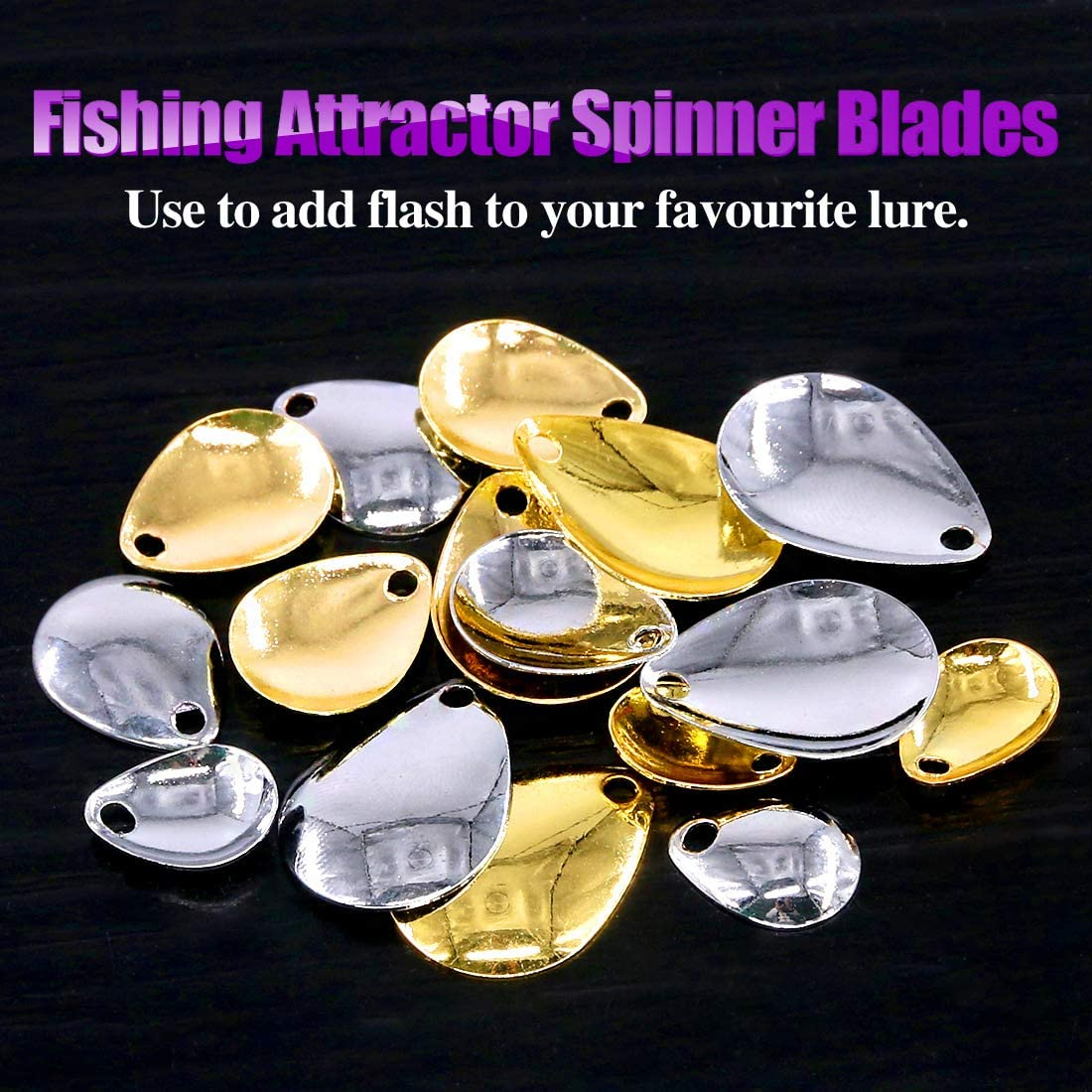 ONDEX CLASSIC GOLD//DECORE SPINNER SPOON PREDATOR FISHING LURE SIZES 2//3//4//5//6