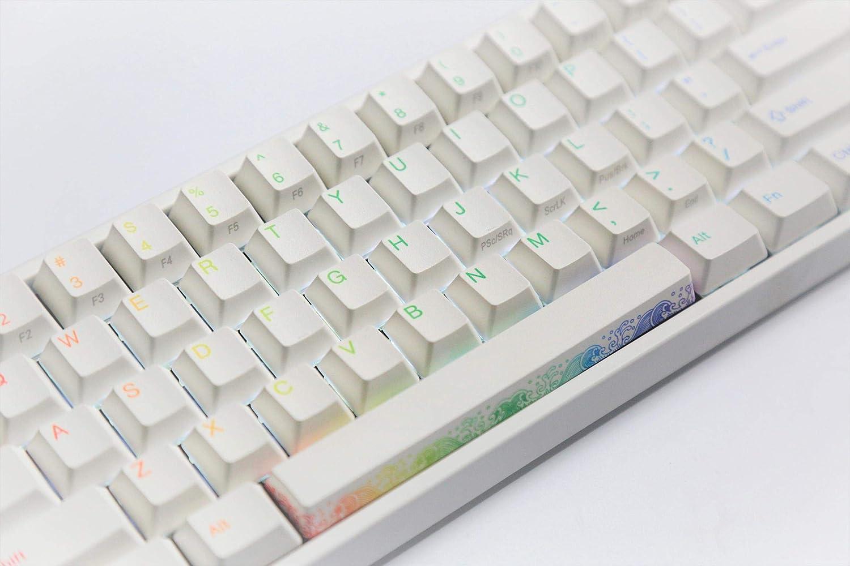 Keyboard Ducky Miya Pro Rainbow White LED Cherry MX Silver