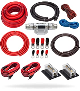 Phenomenal Amazon Com Crutchfield Amp Wiring Kit 4 Gauge Dual Amp Car Electronics Wiring Cloud Hisonuggs Outletorg