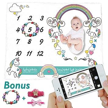 Amazon.com: Manta para bebé con diseño de millas (mantel de ...