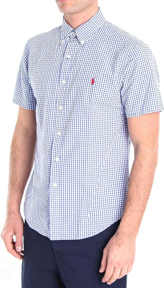 Polo Ralph Lauren Mod. 710795250 Camisa Seersucker Slim Fit Hombre Azul Claro M: Amazon.es: Ropa y accesorios