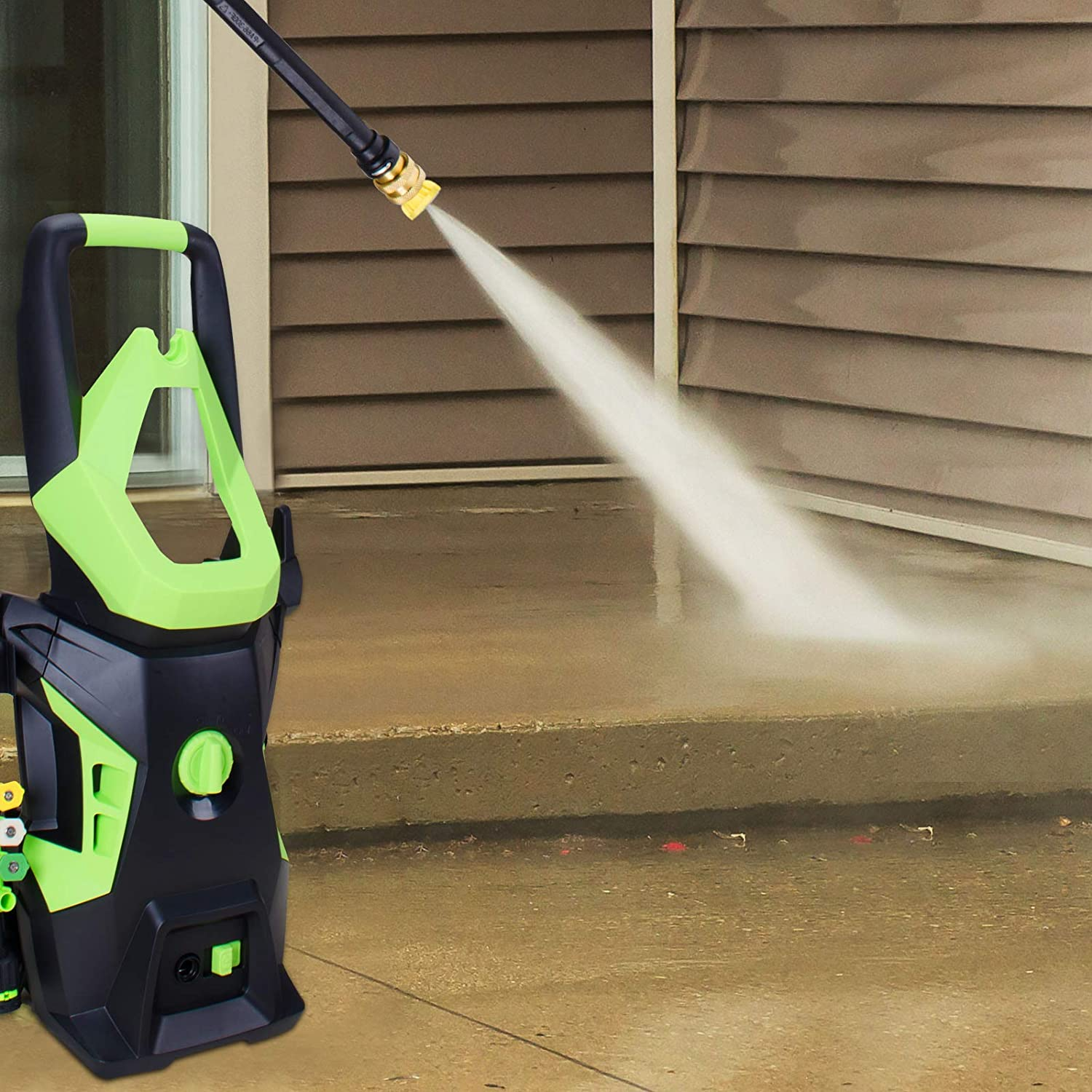 PowRyte Elite Advanced Electric Pressure Washer with 4 Interchangeable Spray Tips,Long Term Helper Washer,High Effcient Pressure Washer 3600PSI 2.2GPM