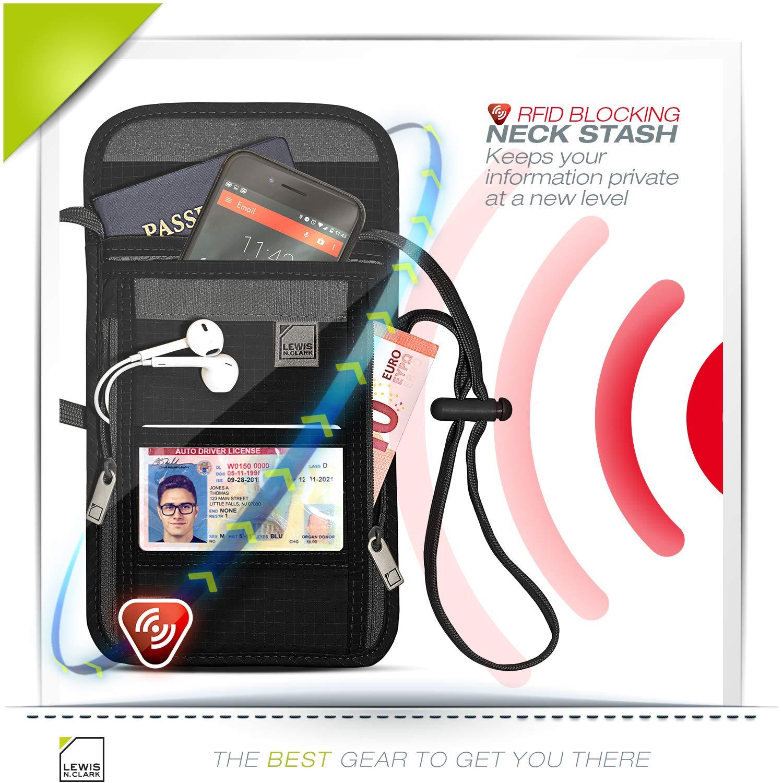 Amazon.com: Lewis N. Clark cartera de bloqueo RFID para ...