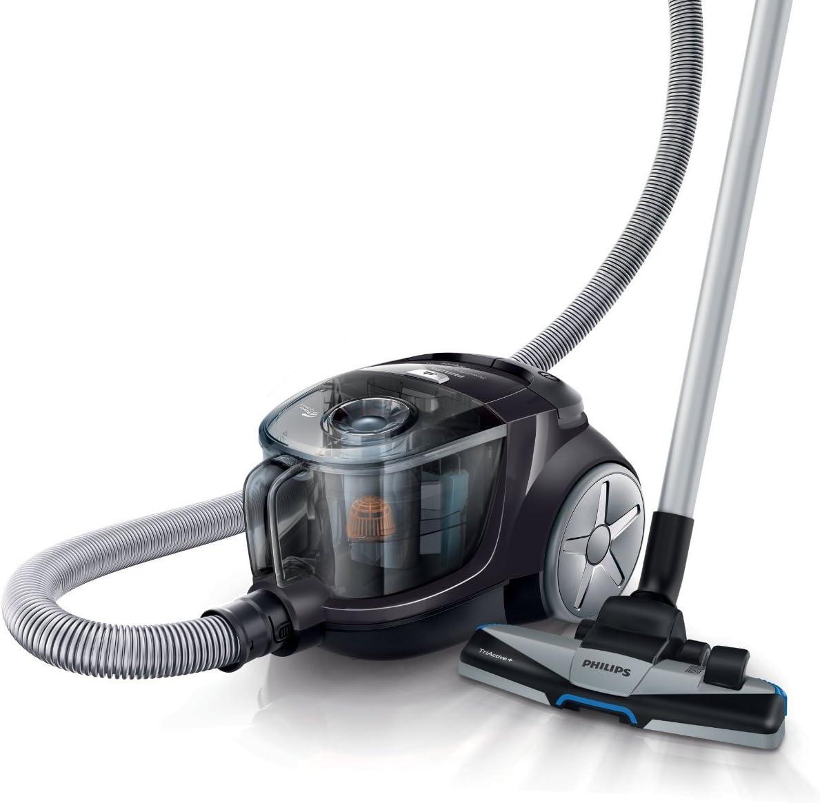Philips PowerPro Compact - Aspirador sin bolsa con tecnología PowerCyclone, cepillo para suelos duros, color negro: Amazon.es: Hogar