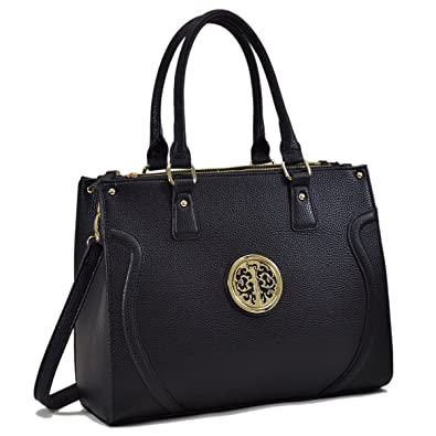 Amazon.com  Women Handbags Vegan Leather Briefcase for women Large Work  Bags Top Handle Satchel Bags Purses  Shoes 0e7e01a25d58a