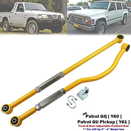 Amazon com: Front+Rear Adjustable Panhard Rod Bar For Nissan Patrol