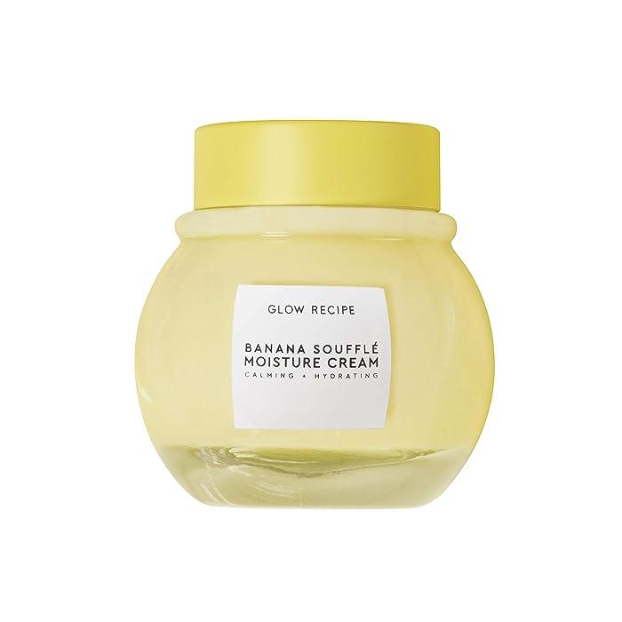 Glow Recipe Banana Souffle Moisture Cream - Calming + Hydrating Facial Moisturizer with Magnesium, Turmeric + Tiger Grass - Cruelty-Free + Vegan Skincare (50ml / 1.7 fl oz)