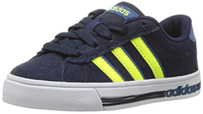 adidas NEO Big kids Daily Team K SneakerCOLLEGIATE NAVY SOLAR YELLOW