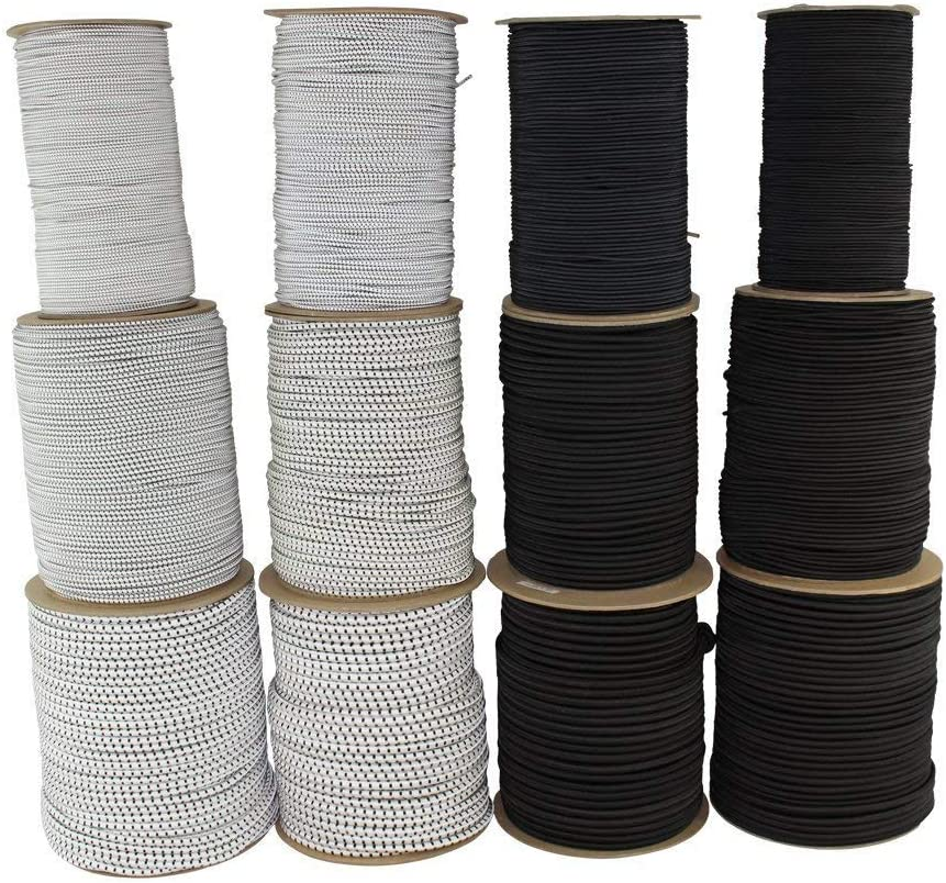 Crafting - SGT KNOTS 1//2 inch for All-Weather Polypropylene Bungee Line//Elastic Rope Tie Downs Camping 10 feet - coil - Black Polypro Shock Cord Industrial DIY Projects Commercial