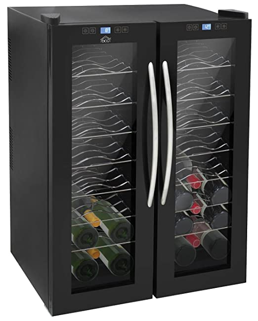 Botellero de vino, nevera digital DCG MF135 para 48 botellas, 135 ...