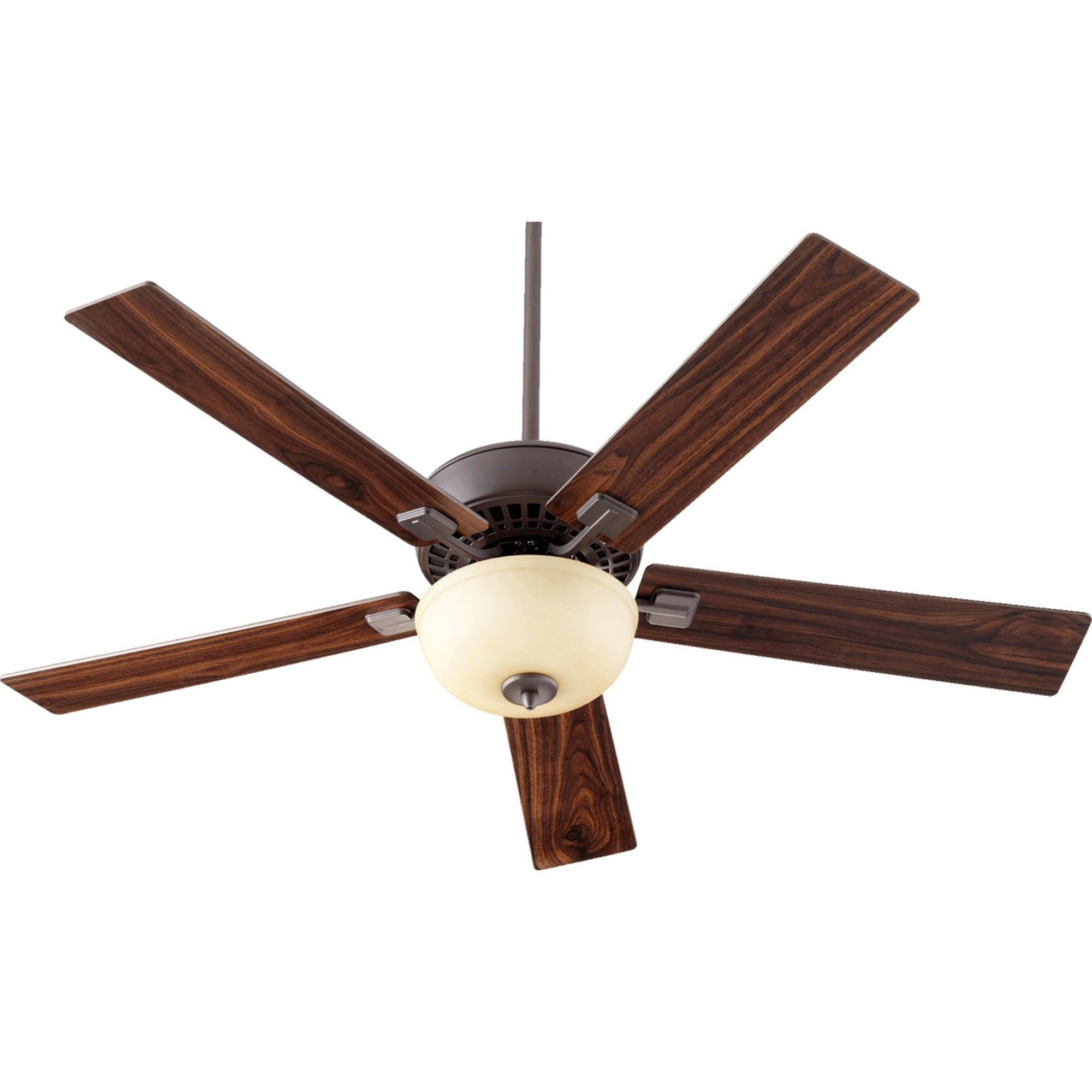 Quorum Rothman 52'' 5-Blade Ceiling Fan with Reversible Walnut/Bronze Paddle Blades