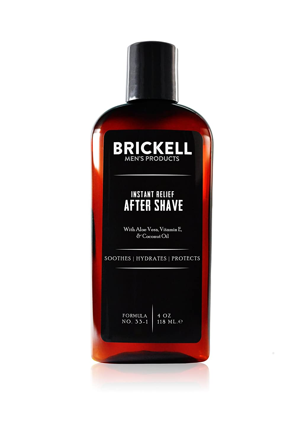 Brickell Men's Instant Relief Aftershave for Men – Natural - 2 Ounce - Scented Brickell Men's Products AST135