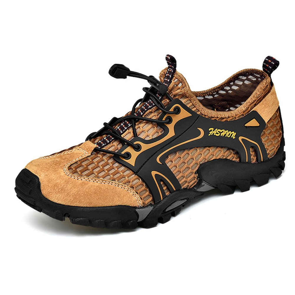 YEEOGF Mens Wasserdichte Wanderschuhe Schnell Trocknende Wanderschuhe Wildleder Mesh Außenmaterial Outdoor-Schuhe Gummisohle Ideal Für Den Täglichen Gebrauch