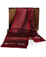 Fashion Mens 100% Silk Long Scarf/Cravat Scarives Double Layer
