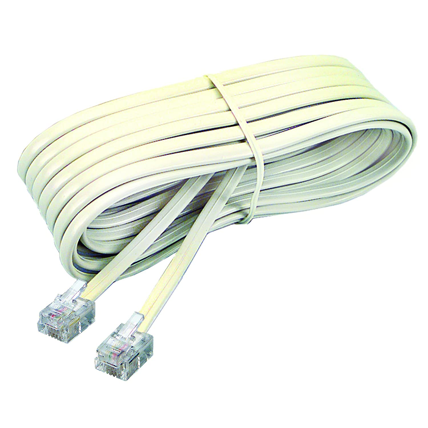 Softalk 04020 Phone Line Cord 25 Feet Ivory Landline Wiring Telephone Accessory Electronics