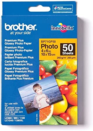 Amazon.com: Brother Glossy Photo 260 g/m 10 x 15 cm ...