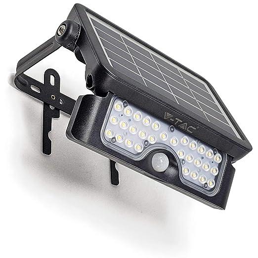 SOLAR Proyector LED V-TACR, reflector, lámpara para exteriores ...