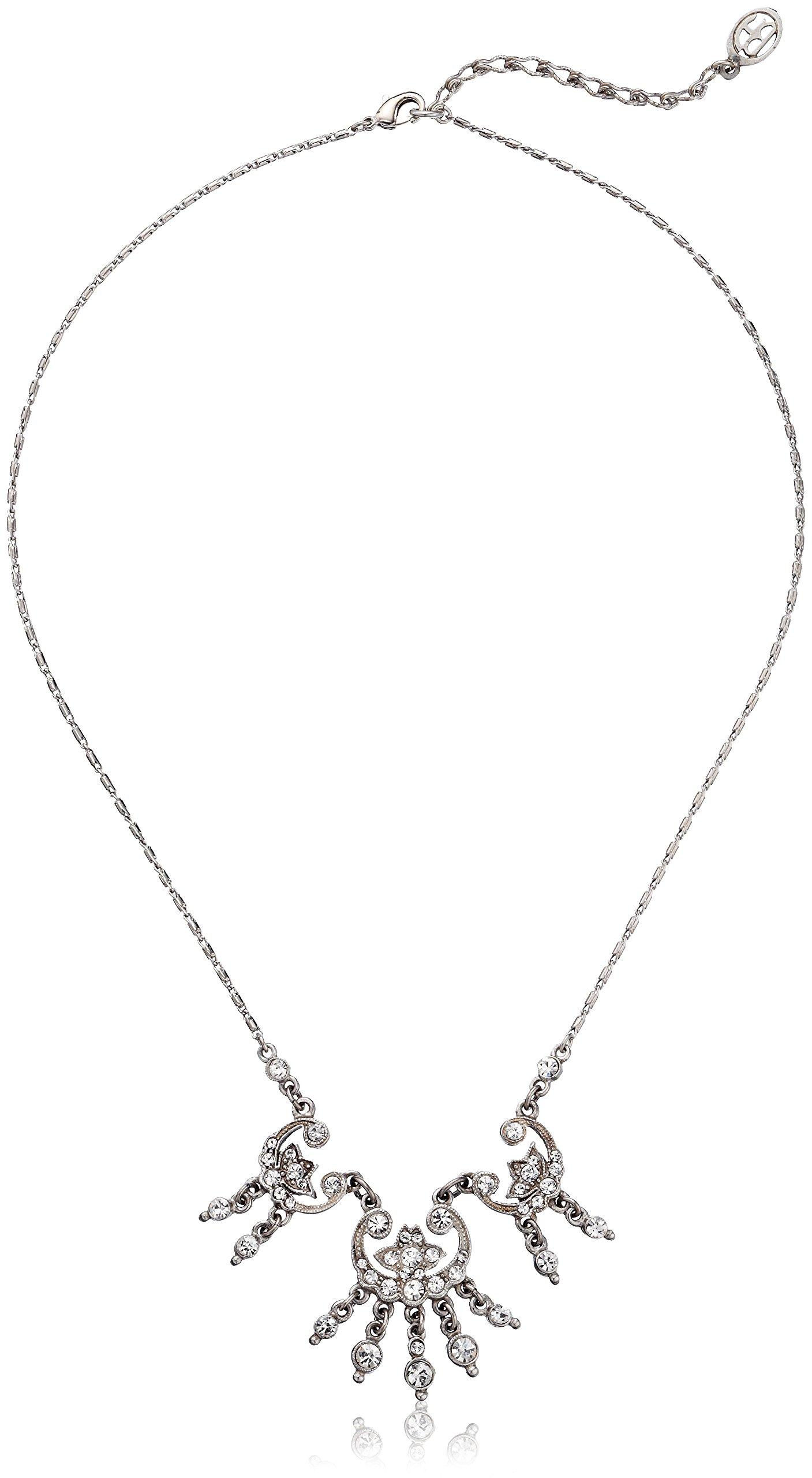 Ben-Amun Jewelry Swarovski Crystal Tear Drop Necklace for Bridal Wedding Anniversary
