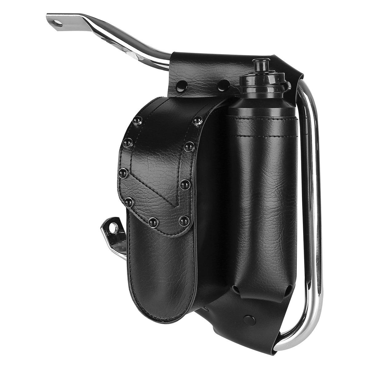 Electra Glides Road Glides XMT-MOTO Saddlebag Guard Bag W//Water Bottle Holder For Most of Harley Touring models With crash bars Road King