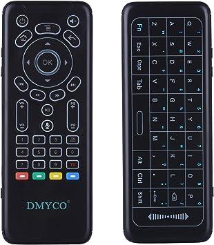 DMYCO 2.4 G Mini Teclado inalámbrico retroiluminado con Panel táctil para Android Smart TV Box TV TV proyector de Aire Acondicionado: Amazon.es: Electrónica
